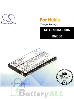 CS-NWD660RC For Nubia Hotspot Battery Model 6BT-R600A-0006 / BM600