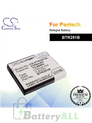 CS-PTR291SL For Pantech Hotspot Battery Model BTR291B