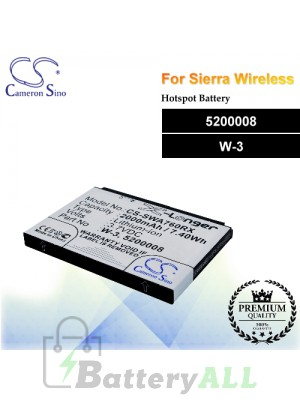 CS-SWA760RX For Sierra Wireless Hotspot Battery Model 5200008 / W-3
