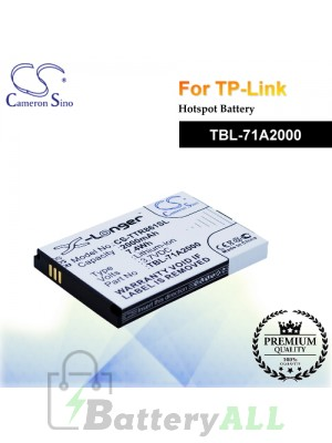 CS-TTR861SL For TP-Link Hotspot Battery Model TBL-71A2000