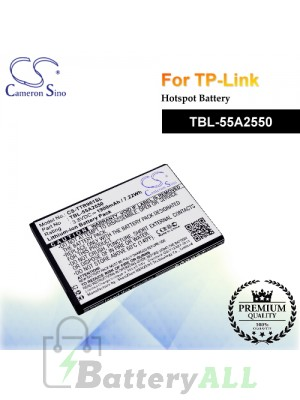CS-TTR961SL For TP-Link Hotspot Battery Model TBL-55A2550