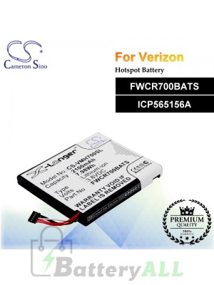 CS-VMH700SL For Verizon Hotspot Battery Model FWCR700BATS / ICP565156A
