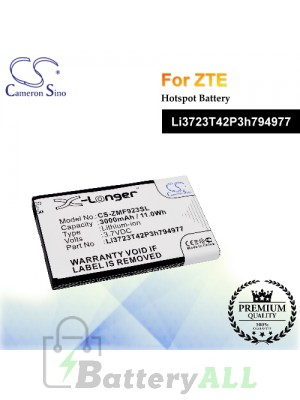 CS-ZMF923SL For ZTE Hotspot Battery Model Li3723T42P3h794977