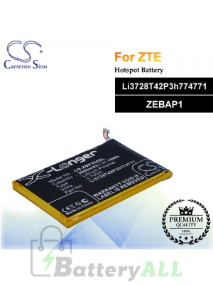 CS-ZMF930SL For ZTE Hotspot Battery Model Li3728T42P3h774771 / ZEBAP1