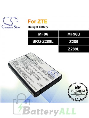 CS-ZTF960SL For ZTE Hotspot Battery Fit Model MF96 / MF96U / SRQ-Z289L / Z289 / Z289L