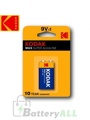 Kodak MAX Alkaline 9V / 6F22(S-006P) / IMPA 792405 9.0V Battery (1 pack)