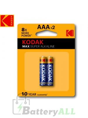 Kodak MAX Alkaline AAA / R03(UM-4) / IMPA 792410 / MN2400 1.5V Battery (2 pack)