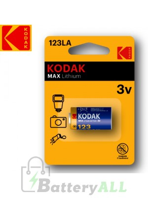 Kodak ULTRA Lithium 123LA / CR17345 / 5018LC / DL123A / CR123A / EL123A / 123LA-A 3.0V Battery (1 pack)