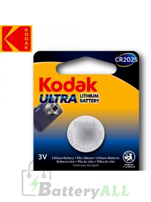 Kodak ULTRA Lithium CR2025 / 5003LC 3.0V Battery (1 pack)