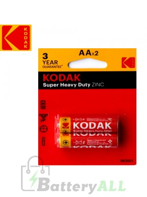 Kodak Zinc Super Heavy Duty AA / R6P(UM-3) / IMPA 792403 1.5V Battery (2 pack)