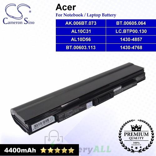 CS-AC1830NB For Acer Laptop Battery Model 1430-4768 / 1430-4857 / AK.006BT.073 / AL10C31 / AL10D56