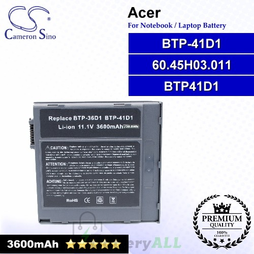CS-AC360NB For Acer Laptop Battery Model 60.45H03.011 / BTP41D1 / BTP-41D1