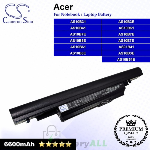 CS-AC4820HB For Acer Laptop Battery Model 934T2085F / AK.006BT.082 / AS01B41 / AS10B31 / AS10B3E / AS10B41