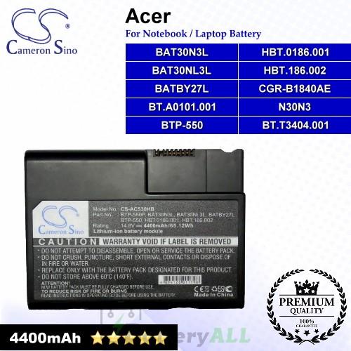 CS-AC530HB For Acer Laptop Battery Model BAT30N3L / BAT30NL3L / BATBY27L / BT.A0101.001 / BT.T3404.001
