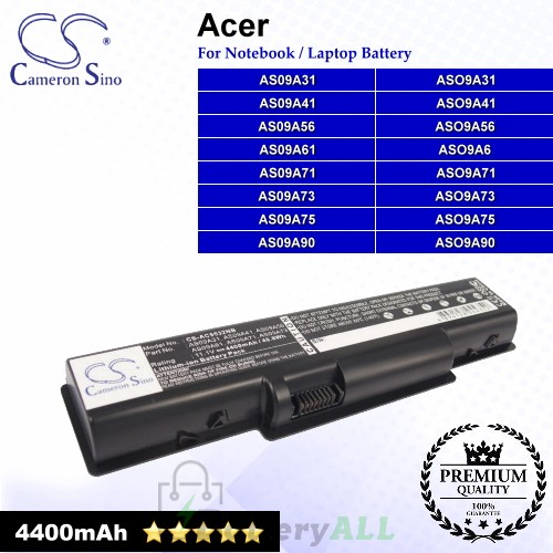 CS-AC5532NB For Acer Laptop Battery Model AS09A31 / AS09A41 / AS09A56 / AS09A61 / AS09A71 / AS09A73
