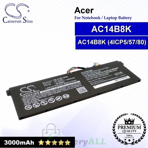 CS-ACB115NB For Acer Laptop Battery Model AC011353 / AC14B18K / AC14B18K(4ICP5/57/80) / KT.0040G.004