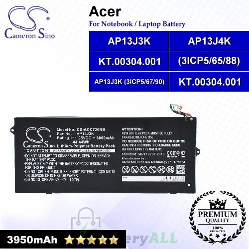 CS-ACC720NB For Acer Laptop Battery Model AP13J3K / AP13J3K(3ICP5/67/90) / AP13J4K / AP13J4K(3ICP5/65/88)