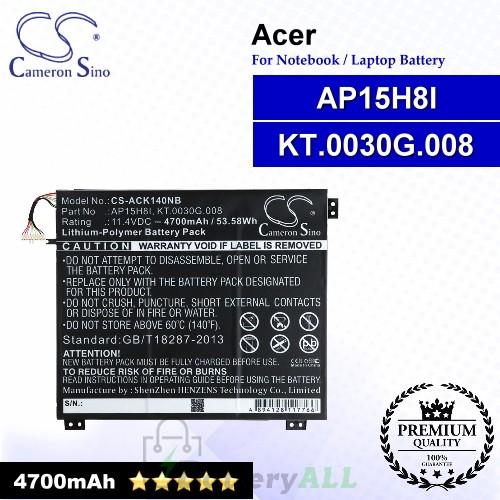 CS-ACK140NB For Acer Laptop Battery Model AP15H8I / KT.0030G.008