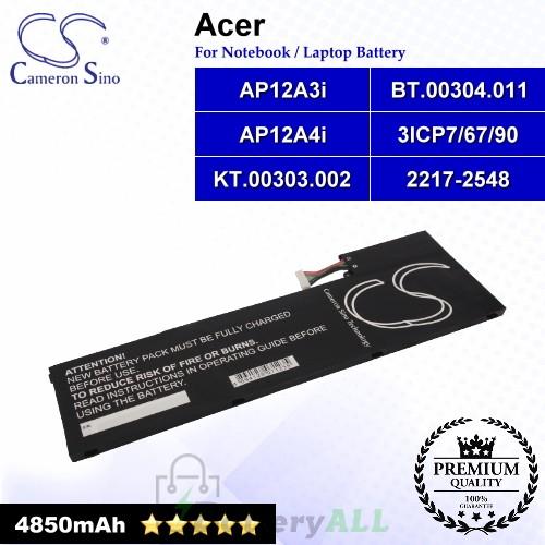 CS-ACM500NB For Acer Laptop Battery Model 2217-2548 / 3ICP7/67/90 / AP12A3i / AP12A4i / BT.00304.011