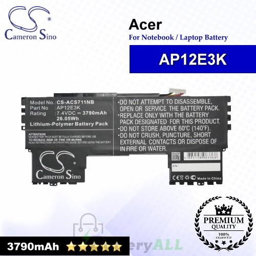 CS-ACS711NB For Acer Laptop Battery Model AP12E3K