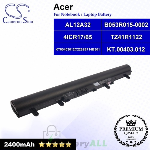 CS-ACV500NB For Acer Laptop Battery Model 4ICR17/65 / AL12A32 / B053R015-0002 / KT.00403.003 / KT.00403.012