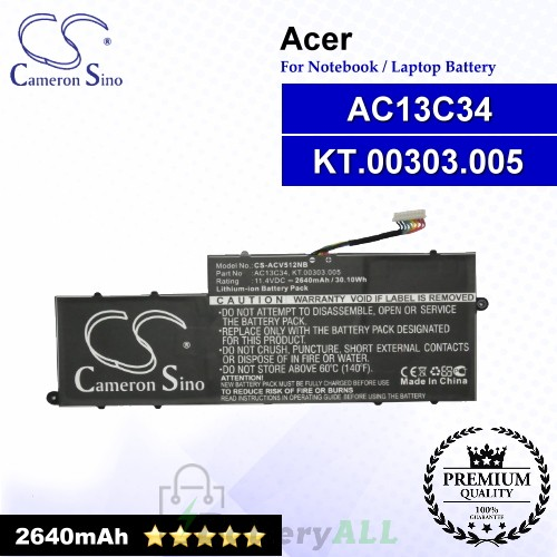CS-ACV512NB For Acer Laptop Battery Model AC13C34 / KT.00303.005