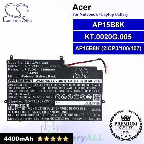 CS-ACW173NB For Acer Laptop Battery Model AP15B8K / AP15B8K (2ICP3/100/107) / KT.0020G.005