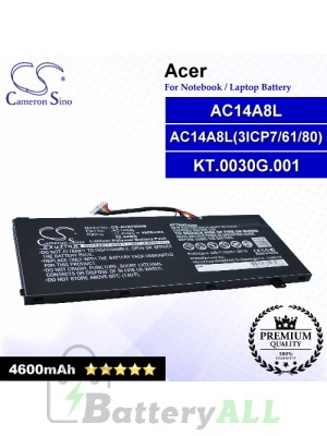 CS-AVN700NB For Acer Laptop Battery Model AC14A8L / AC14A8L(3ICP7/61/80) / AC15B7L / KT.0030G.001