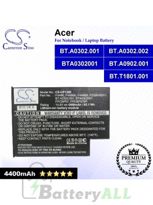 CS-CP1300 For Acer Laptop Battery Model BT.A0302.001 / BT.A0302.002 / BT.A0902.001 / BT.T1801.001 / BTA0302001