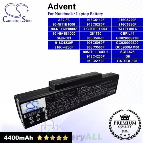 CS-AUF3NB For Advent 7093 QT5500 Laptop Battery