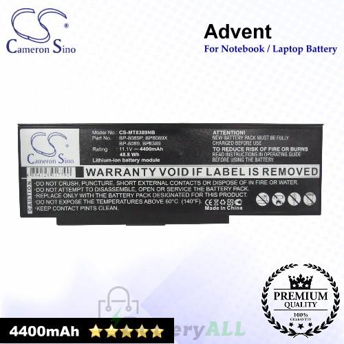 CS-MT8389NB For Advent Laptop Battery Model 442677000001 / 442677000003 / 442677000004 / 442677000005