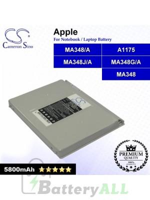CS-AM1175NB For Apple Laptop Battery Model A1175 / MA348 / MA348/A / MA348G/A / MA348J/A