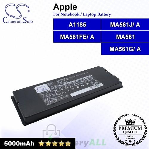 CS-AM1185KL For Apple Laptop Battery Model A1185 / MA561 / MA561FE/ A / MA561G/ A / MA561J/ A