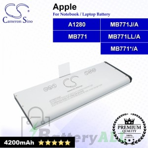 CS-AM1280NB For Apple Laptop Battery Model A1280 / MB771 / MB771*/A / MB771J/A / MB771LL/A