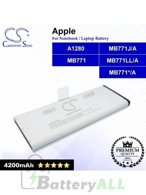 CS-AM1280NB For Apple Laptop Battery Model A1280 / MB771 / MB771*/A / MB771J/A / MB771LL/A
