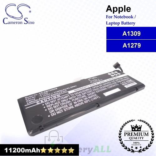 CS-AM1309NB For Apple Laptop Battery Model A1309