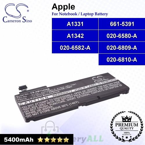 CS-AM1342NB For Apple Laptop Battery Model 020-6580-A / 020-6582-A / 020-6809-A / 020-6810-A / 661-5391