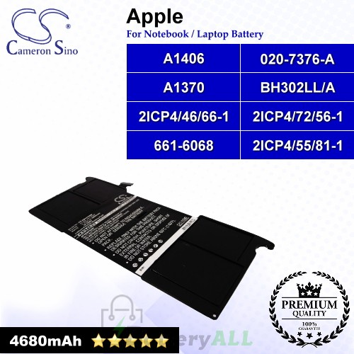CS-AM1370NB For Apple Laptop Battery Model 020-6920-A 01 / 020-7376-A / 2ICP4/46/66-1 / 2ICP4/55/81-1