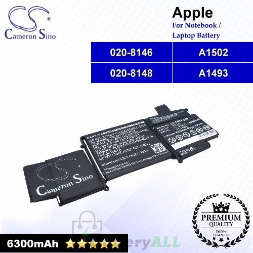 CS-AM1493NB For Apple Laptop Battery Model 020-8146 / 020-8148 / A1493 / A1502