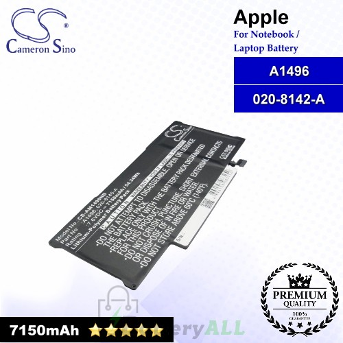 CS-AM1496NB For Apple Laptop Battery Model 020-8142-A / A1496