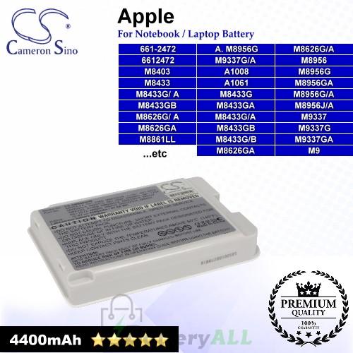 CS-AM8403HB For Apple Laptop Battery Model 661-1764 / 6612472 / 661-2472 / 661-2569 / 661-2672 / 661-2994