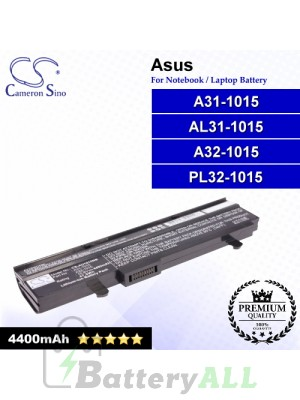 CS-AU1015NB For Asus Laptop Battery Model A31-1015 / A32-1015 / AL31-1015 / PL32-1015 (Black)