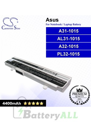 CS-AU1015NT For Asus Laptop Battery Model A31-1015 / A32-1015 / AL31-1015 / PL32-1015 (White)