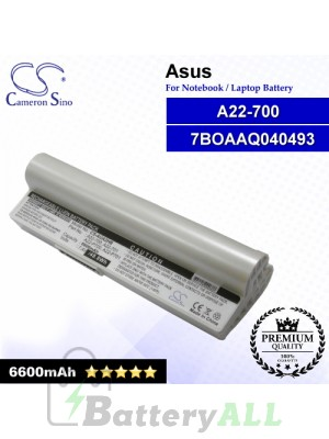 CS-AUA2HB For Asus Laptop Battery Model 7BOAAQ040493 / 90-OA001B1100 / A22-700 / A22-P701 / Eee PC P900 (White)