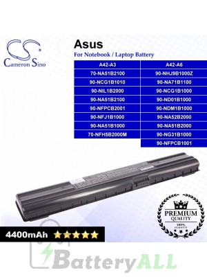 CS-AUA3 For Asus Laptop Battery Model 70-NA51B1100 / 70-NA51B2100 / 70-NFH5B2000M / 90-NA51B1000
