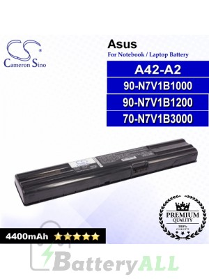 CS-AUA42 For Asus Laptop Battery Model 70-N7V1B3000 / 90-N7V1B1000 / 90-N7V1B1200 / A42-A2