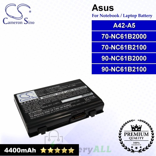 CS-AUA500NB For Asus Laptop Battery Model 70-NC61B2000 / 70-NC61B2100 / 90-NC61B2000 / 90-NC61B2100 / A42-A5