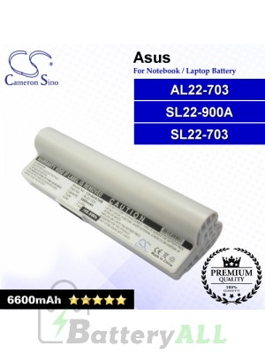 CS-AUA7HB For Asus Laptop Battery Model AL22-703 / SL22-703 / SL22-900A (White)