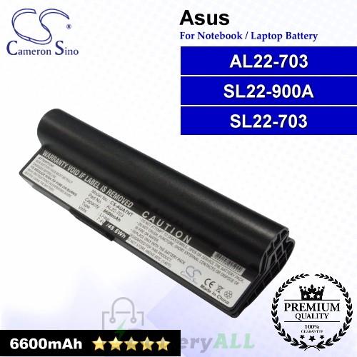 CS-AUA7HT For Asus Laptop Battery Model AL22-703 / SL22-703 / SL22-900A (Black)
