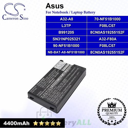 CS-AUA8NB For Asus Laptop Battery Model 70-NF51B1000 / 8CN0AS19255152F / 90-NF51B1000 / 90-NF51B1000Y